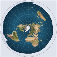 The Flat-Earth map